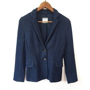 Old Navy Navy Fitted Two Button Blazer